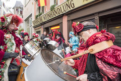 Musicians carnival Zurich royalty free stock photo
