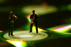 Musicians CD D royalty free stock photo