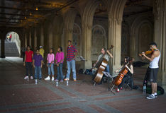 Musicians Central Park Royalty Free Stock Photography