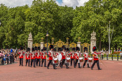 Musicians at the Changing of the Guard Performance at Buckingham Stock Photos
