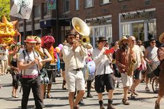 Musicians at cinqo de mayo parade Royalty Free Stock Photography
