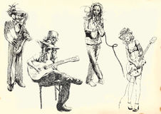 Musicians Collection 1 Royalty Free Stock Photography