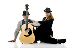 Musicians, couple Royalty Free Stock Photography
