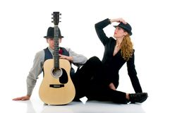 Musicians, couple Stock Photography