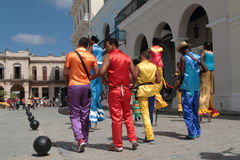 Musicians and dancers in Havana Stock Photo