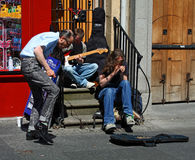 Musicians in Edinburgh Stock Photos