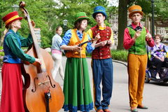 Musicians at the Efteling park Royalty Free Stock Photography