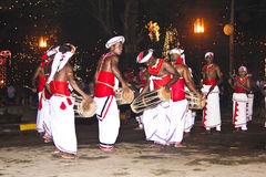 Musicians at the festival Pera Hera in Candy. CANDY, SRI LANKA  - August 12: musicians are participating the festival Pera Hera in Candy to celebrate the tooth Stock Image