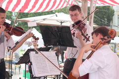 Musicians at the festival Royalty Free Stock Photography