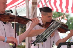 Musicians at the festival Royalty Free Stock Image