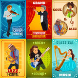 Musicians flat banners composition poster Stock Photography