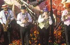 Musicians on Float in Rose Bowl Parade, Pasadena, California Stock Image