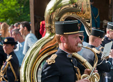 Musicians from French army signal corps band Royalty Free Stock Photos