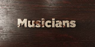 Musicians - grungy wooden headline on Maple  - 3D rendered royalty free stock image Stock Photography