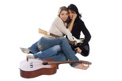 Musicians, hispanic woman Royalty Free Stock Photos