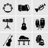 Musicians icons great for any use. Vector EPS10. Stock Photo