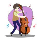 Musicians Jazz group ,Play guitar,Saxophoneist;trumpet player; guitarist, drummer, solo guitarist, bassist. Jazz band.Vector illus. Tration isolated on Stock Photo