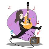 Musicians Jazz group ,Play guitar,Saxophoneist;trumpet player; guitarist, drummer, solo guitarist, bassist. Jazz band.Vector illus. Tration isolated on Stock Photos
