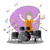 Musicians Jazz group ,Play guitar,Saxophoneist;trumpet player; guitarist, drummer, solo guitarist, bassist. Jazz band.Vector illus. Tration isolated on Stock Photography
