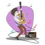 Musicians Jazz group ,Play guitar,Saxophoneist;trumpet player; guitarist, drummer, solo guitarist, bassist. Jazz band.Vector illus. Tration isolated on Stock Image