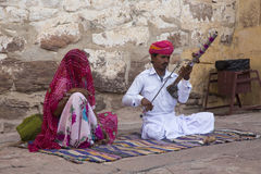 Musicians at Jodhpur fort Stock Photography