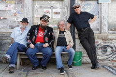 The musicians of the Johnny Riley Band, in Clarksdale Royalty Free Stock Photos