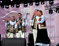 Musicians in the Moldovan national costumes Stock Photography