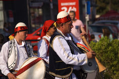 Musicians, Pec, Kosovo Stock Images