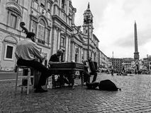 Musicians at Piazza Navona. In Rome, Italy royalty free stock image