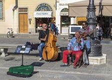 Musicians in Piazza Santa Croce Stock Photos