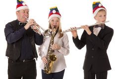 Musicians play classical music for Christmas Stock Photography
