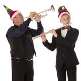 Musicians play music for Christmas Royalty Free Stock Photos