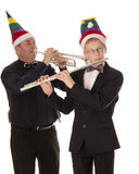 musicians play music for Christmas Stock Photography