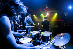 Musicians play on stage Royalty Free Stock Images