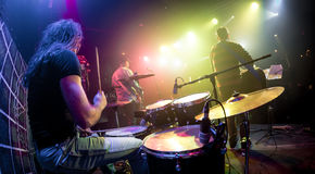 Musicians play on stage Royalty Free Stock Photography