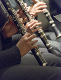 Musicians playing clarinet in band Stock Images