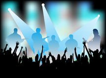 Musicians playing on the concert Royalty Free Stock Photography