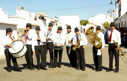 The musicians playing on street Stock Photo