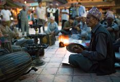 Musicians Playing Traditional Music Nepal Royalty Free Stock Images