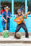 Musicians playing traditional music in Old Havana Stock Images