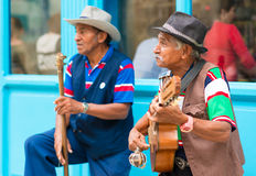Musicians playing traditional music in Old Havana Stock Photo