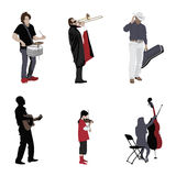 Musicians set Royalty Free Stock Images