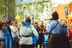 Musicians sing in the street. Telnyazhkah two musicians sing in the street Stock Photography