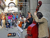 Musicians street Stock Image