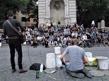 Musicians on a street of Rome royalty free stock images