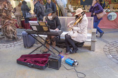 Musicians in the street Royalty Free Stock Photo