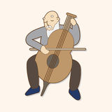 Musicians theme elements vector,eps Stock Photo