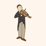 Musicians theme elements vector,eps Stock Photography
