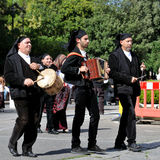 Musicians with the traditional costume of Sardinia. stock photography