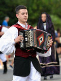 Musicians with the traditional costume of Sardinia. Royalty Free Stock Images